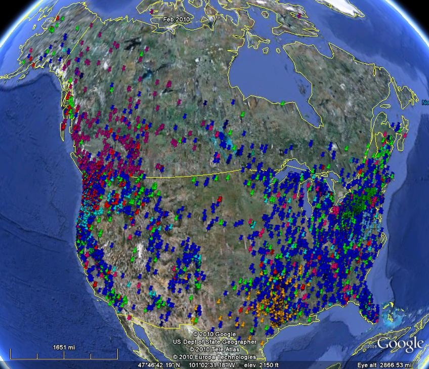 GoogleEarthBFmap jpgYeti Sightings Map